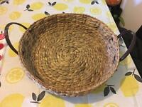 Large wicker fruit bowl