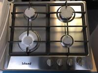 Stainless Steel Gas Hob Cast Iron Panstands