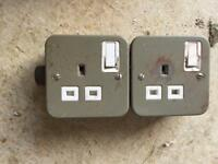 Two single garage sockets