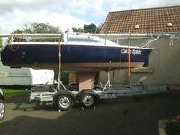 19ft Morgan Sailing Boat with Trailer