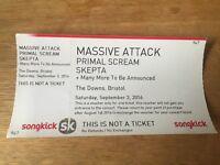 Massive Attack - Bristol ticket (inc Primal Scream, Skepta & more) 3rd sep