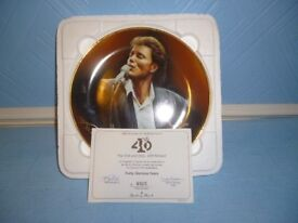 Danbury Mint Cliff Richard Forty Glorious Years Plate with Certificate