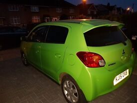MITSUBISHI MIRAGE,1.2L,AUTOMATIC,PETROL,GREEN,TAX FREE,VERY LOW MILEAGE, VERY ECONOMICAL, cat c