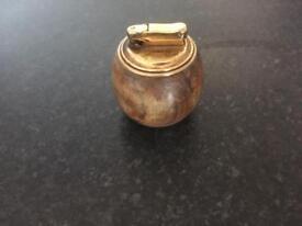 Vintage COLIBRI Olive Wood Table Lighter from Jerusalem (AZ20)