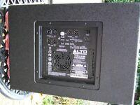 Alto TS Sub Truesonic 600 watt powered sub bin ....good condition used in a studio