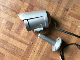 Colour CCTV camera, with infrared light and bracket.