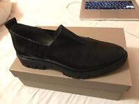 Gaimo Office Slip on Black Leather Shoes