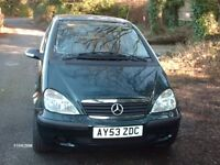 MERCEDES ACLASS,AUTOMATIC,CLASSIC,1400CC,53 PLATE