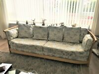 RENAISSANCE ERCOL 3 SEATER SOFA + ERCOL FOOT STALL, VERY COMFY Cost £2,500 sell for £850