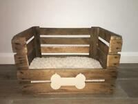 Rustic Crate Dog/Small Pet Bed