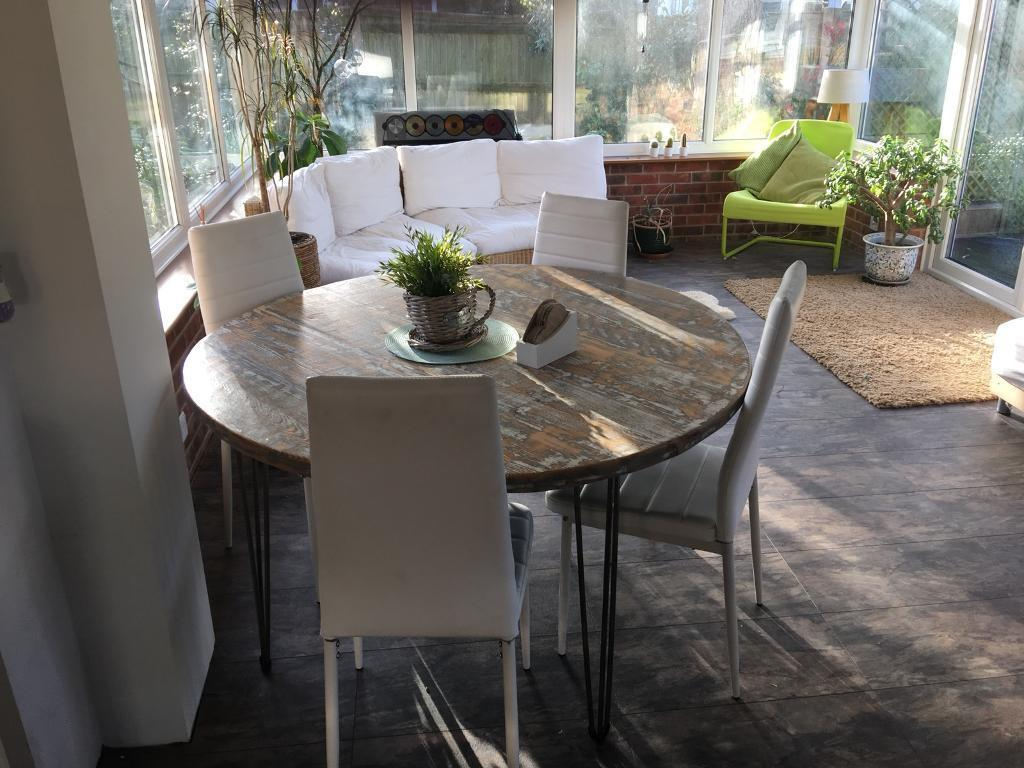 Chairs White Kitchen Dining 4 15 Each