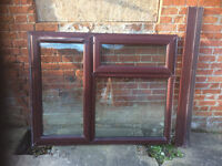 Double Glazed Window in Rosewood uPVC