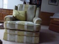 Traditional armchair, recently upholstered in good condition