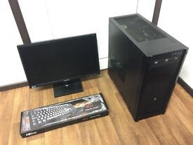 Gaming Computer PC, Complete Setup with Monitor (AMD 8 Core, 16GB RAM, 750GB HD, GTX 580)