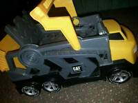 CAT lorry transporter van kids toy