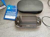 Ps vita plus 16gb memory card and case