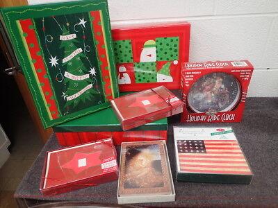 Assorted Christmas Holiday Decor Gift Boxes Greeting Cards Harley Davidson Clock](Harley Davidson Halloween Decorations)