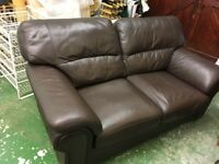 FREE TO COLLECT - Leather 2 seater Sofa