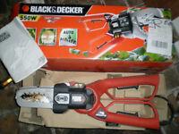 Black & Decker Alligator mini chainsaw and powered lopper