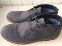 Navy suede desert boots, size 7, worn once