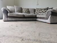 Grey dfs corner sofa, couch, suite(SOLD PENDING)