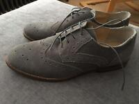 Asos Grey Suede Brogue Smart Shoes