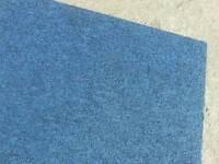 Blue marine carpet tiles