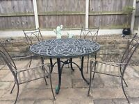 garden table and chairs for sale in leeds. metal garden table, chairs and parasol set table for sale in leeds