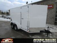 """2016 Stealth Trailers 7 X 12 + 30"""" V NOSE / DOUBLE REAR DOORS /"""
