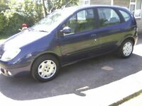 RENAULT SCENIC 1-4 EXPRESSION 16v 5-DOOR MPV 2002. 12 MONTHS MOT ON PURCHASE.