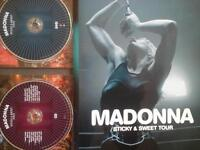 MADONNA Sticky and Sweet Tour : Book, DVD, CD