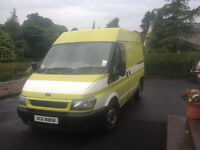 Ford Transit mid high SWB 2L Diesel Fitted with bed and storage