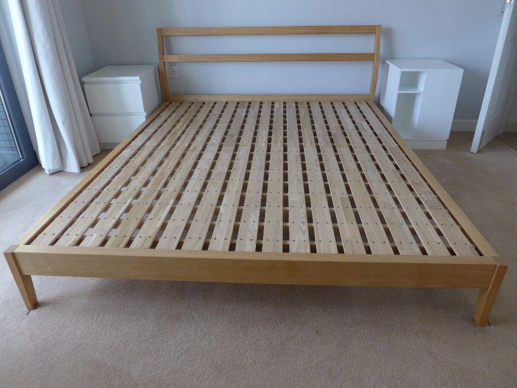 muji bentwood ash kingsize bed frame