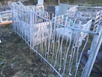 Galvanised ornate fencing