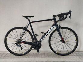 (4106) 700c 58 cm CERVELO R3 ULTEGRA Carbon ROAD BIKE BICYCLE RACER Size: L, Height: 175-190 cm