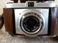 Vintage Kodak Retinette 35mm film camera + 2 push fit filters