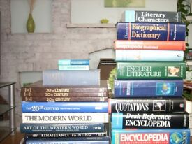 Collection of over 20 General Reference Books, Art Reference Books, Dictionaries & Atlas.