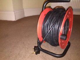 30 metre cable extension reel 4 socket heavy duty
