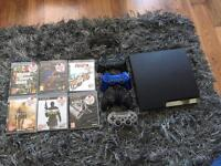 PS3, 4 controllers& 6 good games