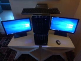 Dell XPS 720 PC Tower with 2 Screen/Monitors
