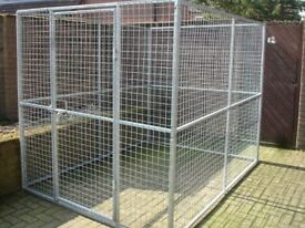 XL GALVANISED DOG PEN CAN DELIVER RUN KENNEL CAGE