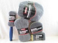 """CAR CLEANING KIT. """"CAR STORE"""" 9 PIECE MICROFIBRE (TOP QUALITY) BRAND NEW. L@@K!"""
