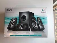Logitech Z506 Surround Sound Speakers 5.1 for Home Cinema, Movie or Computer