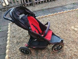 Phil & Ted baby stroller with extras