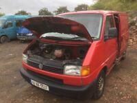 Volkswagen transporter 2.4 diesel spare parts available bonnet bumper light gearbox door radiator