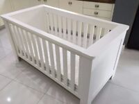 LOOK! John Lewis Cotbed in white + John Lewis mattress. Heals / Conran style lovely cot
