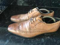 John White Leather Brogues size 8