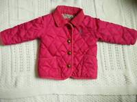 Joules quilted jacket, 3-6M