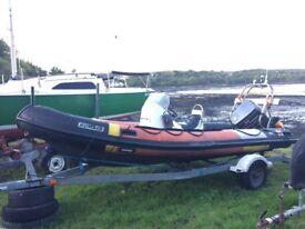 5.5m humber rib boat
