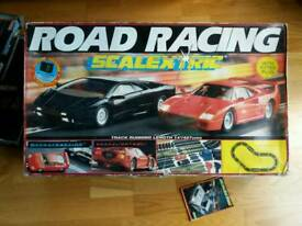 Scalextric Road Race boxed + Extra Boxed track Sections LOOK